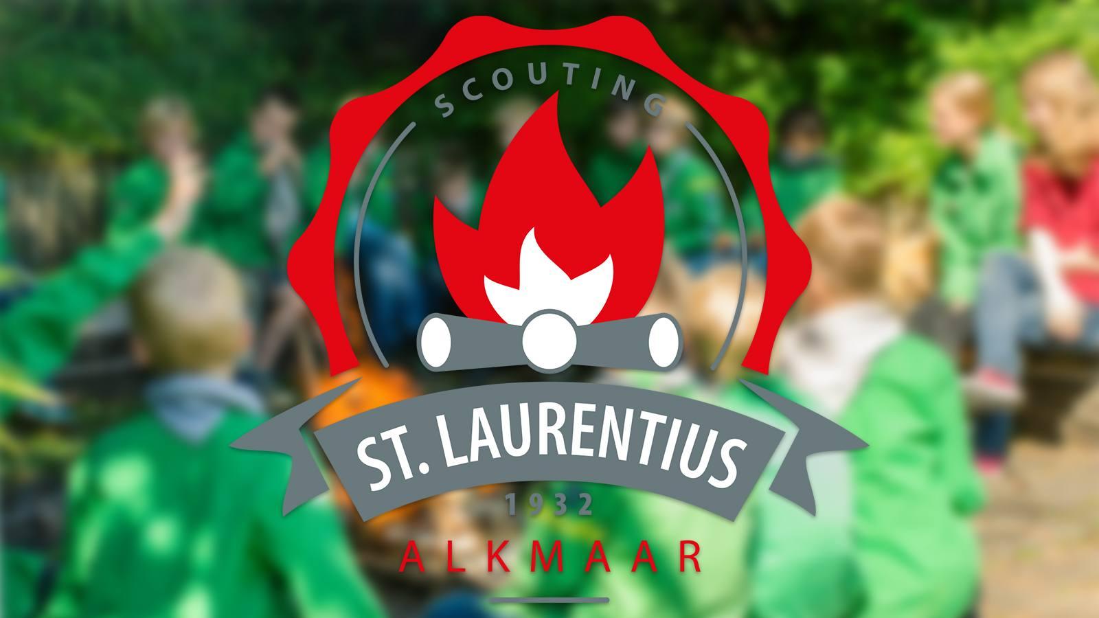 Het logo van St.Laurentius